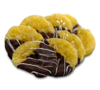 Dark Chocolate Dipped Dried Pineapple